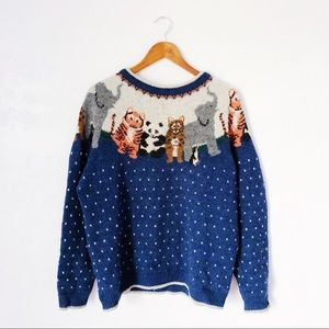 Vintage 80s Animal Sweater
